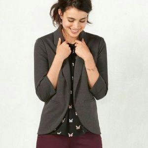 Lauren Conrad Ponte Knit Charcoal Gray Blazer 4
